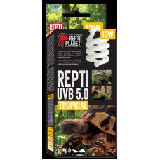 REPTI PLANET UVB 5.0 TROPICAL 13W - оптимални нива на UVB, имитира сенчестата среда на тропическите гори и тропическите райони, Чехия 007-41513