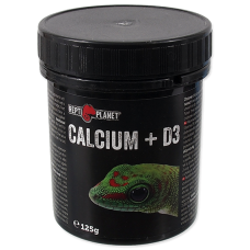 REPTI PLANET Calcium + D3 125 гр, Чехия 007-83012