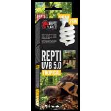 REPTI PLANET UVB 5.0 TROPICAL 26W - оптимални нива на UVB, имитира сенчестата среда на тропическите гори и тропическите райони, Чехия 007-41514