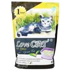 LOVE CAT LITTER ТОФУ еко Котешка Тоалетна ЗЕЛЕН ЧАЙ 050150-05