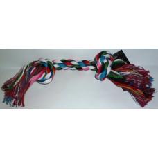 Памучно въже с два възела играчка за куче 40 см 080106-01