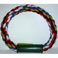 Памучно въже - кръг с пластмасова дръжка играчка за куче 25 см 080109-01