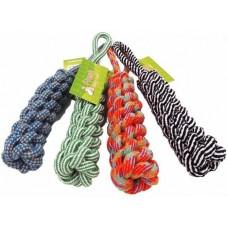 Памучно въже - оплетено с дръжка играчка за куче 30 см 080109-26