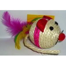 Играчка за котка топка - мишка за драскане 7 см 090107-04
