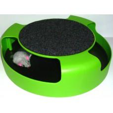 """Играчка за котка ИНТЕРАКТИВНА """"Котешко безумие"""" с въртяща мишка 25 см 10461"""