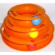 Играчка за котка ИНТЕРАКТИВНА ПИРАМИДА с 3 топчета 24 x 13 см 10637