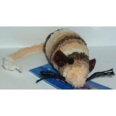 Играчка за котка мишка от конци - райе 8 см 090124-10