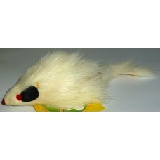 Играчка за котка мишка дългокосместа 10 см