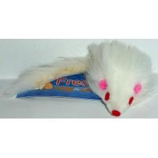 Играчка за котка мишка дългокосместа 5 см