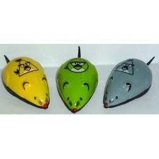 Играчка за котка мишка механична пластмасова Angry Birds 6 см