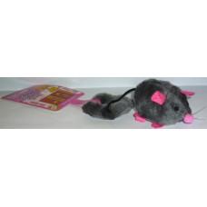 Играчка за котка вибрираща мишка за закачване на врата с котешка трева за привличане 19 см