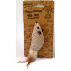 Играчка за котка мишка сезал натурална 9 см 090138-01