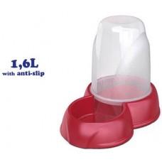 Диспенсър за храна и вода 2 в 1 - 1,6 лит 27 х 17,5 х 21h см GEORPLAST Италия 10089