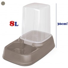 Диспенсър за храна и вода 2 в 1 - 8 лит 44 х 26 х 36h см GEORPLAST Италия 10093