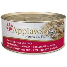 Applaws Chicken with Duck in broth - Месни хапки пилешко филе и патица в бульон 70 гр