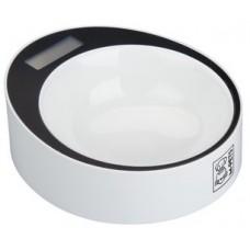 M-Pets Yumi Smart Bowl - умна купа с кантар до 2 кг, диаметър - 20 см БЯЛА с ЧЕРНО - 10520099
