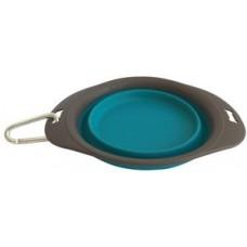 Сгъваема купичка за храна и вода M-Pets On The Road Foldable Bowl - Силиконова купа 20 см, 420 мл, СИНЯ, Белгия - 10552399