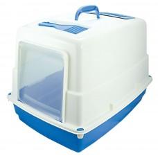 Закрита котешка тоалетна с карбонов филтър HEIDI 54x39x39 см GEORPLAST Италия 10580