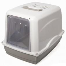 Закрита котешка тоалетна с карбонов филтър VICKY 54x39x39 см GEORPLAST Италия 10582