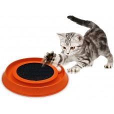 Играчка за котка, ИНТЕРАКТИВНА, с въртящо се топче и мокет за драскане - 41х38х5 см, GEORPLAST ИТАЛИЯ - 10596