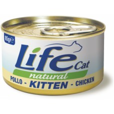 Life Cat Natural Kitten Chicken - с пилешко месо, за малки котенца 85 гр