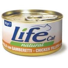 Life Cat Natural Chicken & Shrimps - с пилешко месо и скариди 85 гр