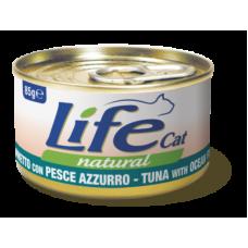 Life Cat Natural Tuna & Ocean Fish - с риба тон и океанска риба 85 гр