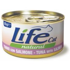Life Cat Natural Tuna & Salmon - с риба тон и сьомга 85 гр