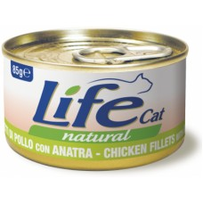 Life Cat Natural Chicken & Duck - с пилешко и патешко месо 85 гр