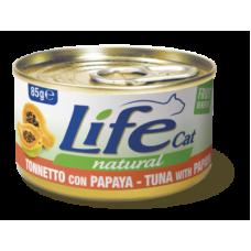 Life Cat Natural Tuna & Papaya - с риба тон и папая 85 гр