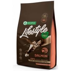 Nature's Protection CAT - LIFESTYLE Grain Free Salmon Kitten, висококачествена храна за подрастващи котенца от всички породи, БЕЗ ЗЪРНО, със сьомга от Норвегия, Литва - 1,5 кг 125026