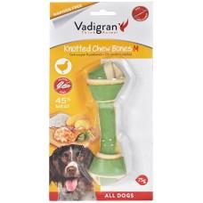 Vadigran KNOTTED CHEWBONE CHICKEN - пилешки вързан кокал, за бели зъби и висока устна хигиена 75 гр - 14,5 см, Белгия - 13350