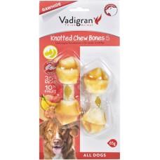 Vadigran KNOTTED CHEWBONE CHICKEN & FRUIT - пилешко и плодове, вързан кокал за бели зъби и висока устна хигиена 85 гр - 10 см, Белгия - 13357