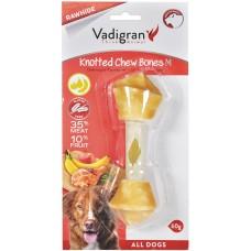Vadigran KNOTTED CHEWBONE CHICKEN & FRUIT - пилешко и плодове, вързан кокал за бели зъби и висока устна хигиена 75 гр - 14,5 см, Белгия - 13358