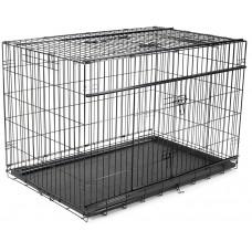 Vadigran TRANSPORT CAGE FOLDABLE PREMIUM BLACK - метална сгъваема клетка 107 х 71 х 79 см, Белгия - 13822