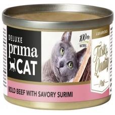 Prima Cat Deluxe Bold Beef with Savory Surimi - с телешко месо и сурими 80 гр
