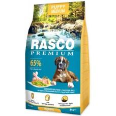 RASCO Premium Puppy Medium - Премиум храна с пиле и ориз за подрастващи кученца от средните породи, 3 кг, Чехия 1704-10024