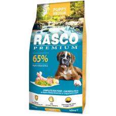 RASCO Premium Puppy Medium - Премиум храна с пиле и ориз за подрастващи кученца от средните породи, 15 кг, Чехия 1704-10027