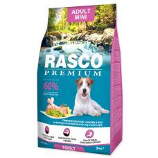 RASCO Premium Adult Small - Премиум храна с пиле и ориз за пораснали кучата от мини породи, 3 кг, Чехия 1704-10314