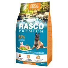 RASCO Premium Adult CHICKEN AND RICE - Премиум храна с пиле и ориз за пораснали кучета от средните породи, 3 кг, Чехия 1704-10324