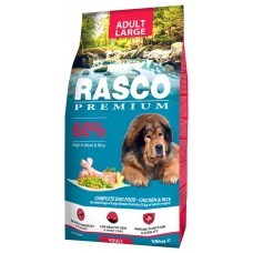 RASCO Premium Adult Large Breed - Премиум храна с пиле и ориз за пораснали кучета от големи и гигантски породи, 15 кг, Чехия 1704-10337