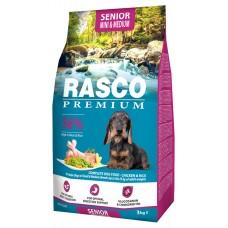 RASCO Premium Senior Small & Medium - Премиум храна с пиле и ориз за възрастни кучета от малки и средни породи, 3 кг, Чехия 1704-10624