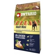 Ontario Adult Mini Chicken & Potatoes - пълноценна храна за пораснали кучета от малки породи с пиле и картофи 6,5 кг, Чехия 214-10537
