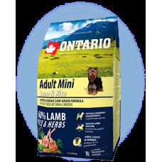Ontario Adult Mini Lamb & Rice - пълноценна храна за пораснали кучета от малки породи с агне и картофи 2,25 кг, Чехия 214-10595