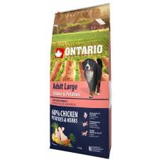 Ontario Adult Large Chicken & Potatoes - пълноценна храна за пораснали кучета от големи породи с пиле и картофи 12кг, Чехия 214-10738