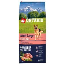 Ontario Adult Large Beef & Rice - пълноценна храна за пораснали кучета от големи породи с говеждо и ориз 12кг, Чехия 214-10758