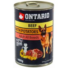 ONTARIO Can Beef, Potatoes, Sunflower Oil - консерва за куче с говеждо месо, картофи 400 гр, Чехия 214-2102