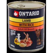 ONTARIO Can Lamb, Rice, Sunflower Oil - консерва за куче с агнешко и бял ориз 800 гр, Чехия 214-2164