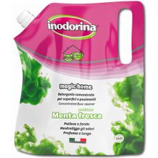 Inodorina Magic Home Мента - Зелен - концентрат за почистване, дезинфекция и обезмирисване 1 лит