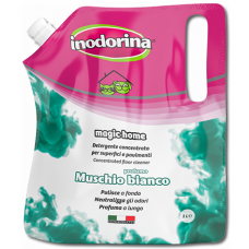 Inodorina Magic Home Бял Мускус - Син - концентрат за почистване, дезинфекция и обезмирисване 1 лит